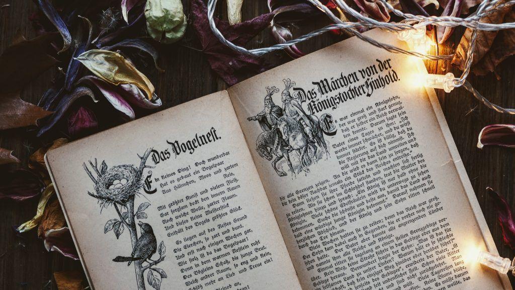 Libro de fantasía con ilustraciones